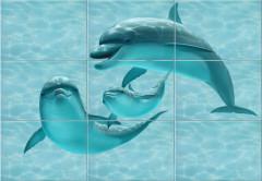 Дельфин ПН7ДФ606 панно из 9-ти плиток (3) 1092 х 747 4336руб шт